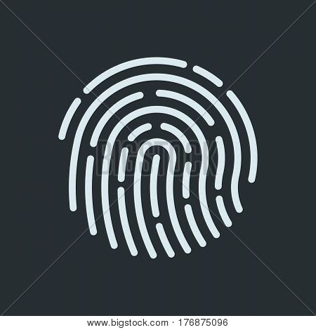 Fingerprint recognition icon.  Finger print symbol. Vector illustration.