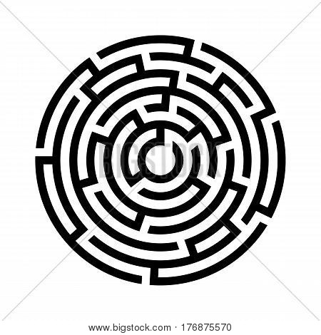 circle maze icon vector photo free trial bigstock