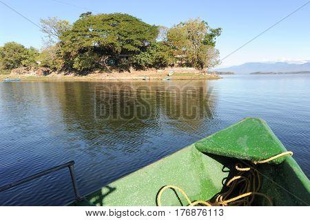 Terra Colorada Island On The Lake Of Suchitlan Near Suchitoto