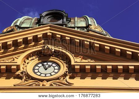 victorian style architecture landmark, location - Australia, Melbourne