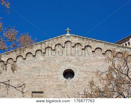 Santa Catalina Church Tower Detail