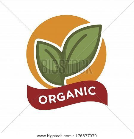 orange circle with green leaf logo theleafco