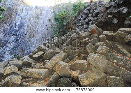 Geological Feature Of Los Tercios Waterfall Near Suchitoto