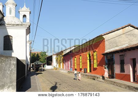 Rooftops Of Colonial Town Of Suchitoto