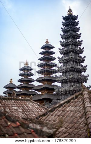 View Hindu Mother Temple of Besakih Bali Island Indonesia