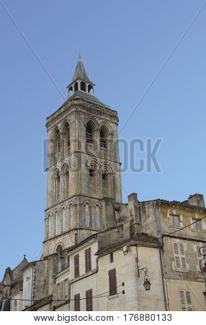 View on a church of Cognac France