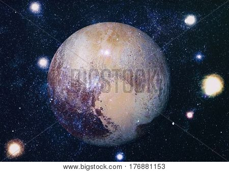 image of stars and a planet in the galaxy. Some elements of this image furnished by NASA