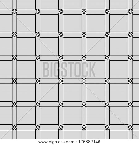 Seamless pattern with geometric shapes and symbols. Vector texture or background pattern.