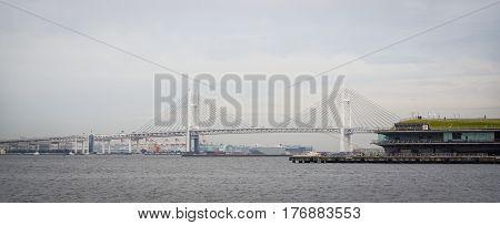 Yokohama Bay Bridge And The Sea Port