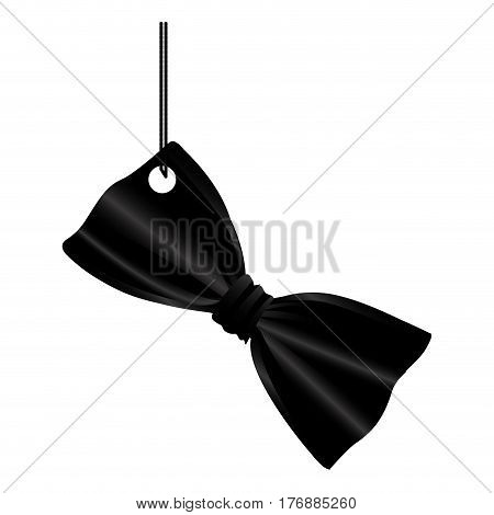 elegant tie bow hanging icon, vector illustration design