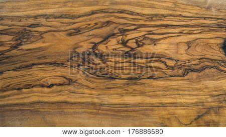 Old rustic olive wood slab texture and background