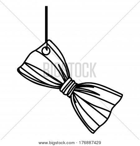 figure elegant tie bow hanging icon, vector illustration design