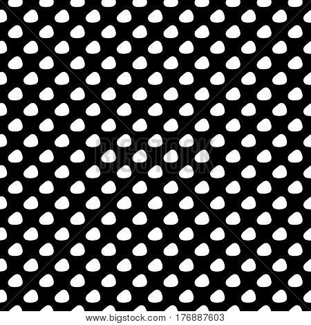 Abstract spot pattern with trendy vintage spots. Cute vector black and white spot pattern. Seamless monochrome spot pattern for fabric, wallpapers, wrapping paper, cards and web backgrounds.