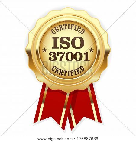 ISO 37001 standard certified rosette - Anti-bribery management systems