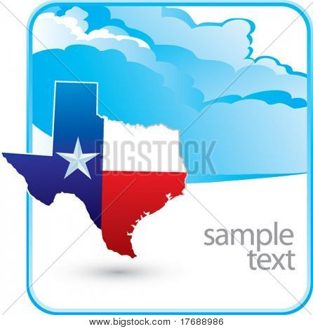 texas icon on cloud banner