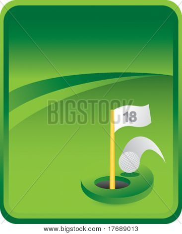 golf hole in one on classic clean background