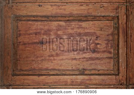 Old Red And Brown Wooden Background