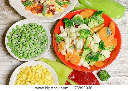 Frozen vegetables retain all the nutrients - recommended to maintain healthy food