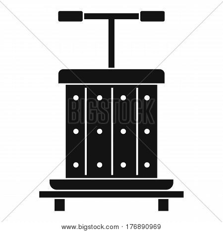 Traditional wooden press for grapes icon. Simple illustration of traditional wooden press for grapes vector icon for web