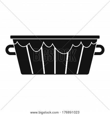 Wooden tub icon. Simple illustration of wooden tub vector icon for web