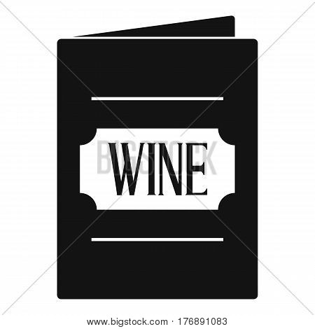 Wine list icon. Simple illustration of wine list vector icon for web