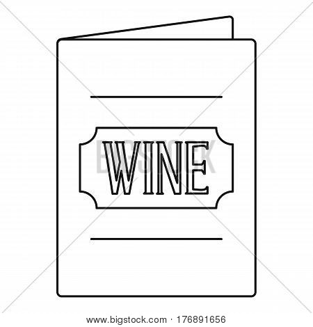 Menu wine list icon. Outline illustration of menu wine list vector icon for web