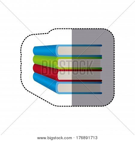 book knowledge shool icon, vector illustration design