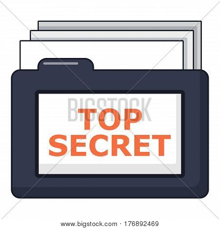 Top secret folder icon. Cartoon illustration of top secret folder vector icon for web