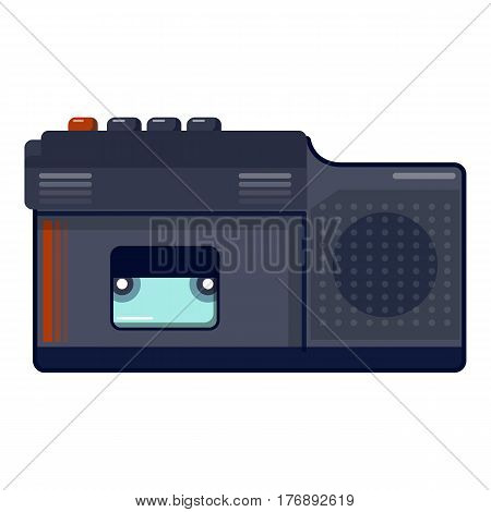 Retro dictaphone icon. Cartoon illustration of retro dictaphone vector icon for web