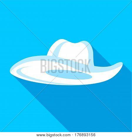 Panama hat icon. Flat illustration of panama hat vector icon for web