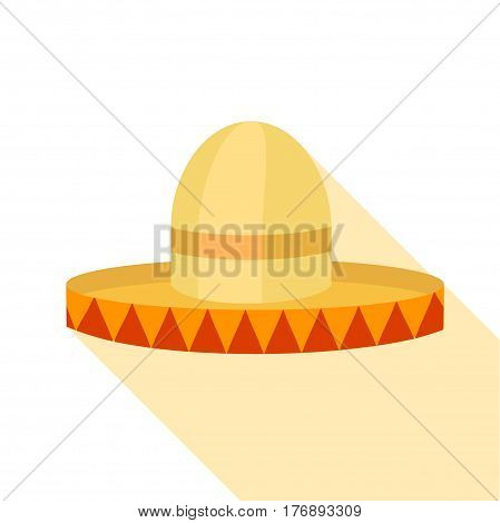 Sombrero hat icon. Flat illustration of sombrero hat vector icon for web
