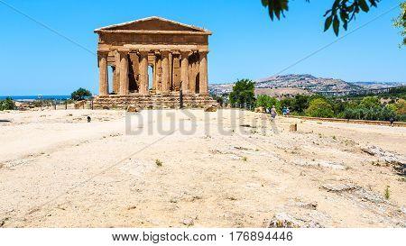 Temple Of Peace (tempio Della Concordia) In Sicily