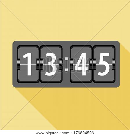 Analog flip clock icon. Flat illustration of analog flip clock vector icon for web