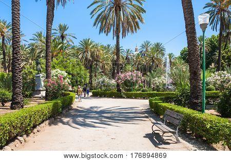 Villa Bonanno Public Garden In Palerm