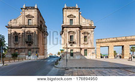 Porta Felice Is Monumental Gateway In Palermo City