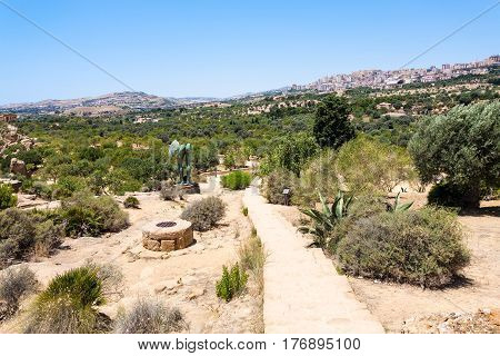 Valley Of The Temples And View Of Agrigento City