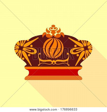 Imperial crown icon. Flat illustration of imperial crown vector icon for web