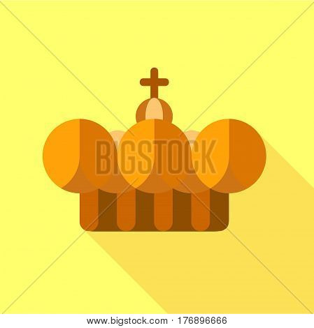 Crown pope icon. Flat illustration of crown pope vector icon for web
