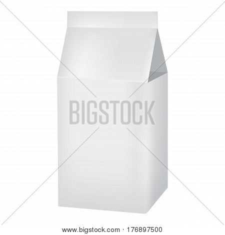 Milk or juice carton box mockup. Realistic illustration of milk or juice carton box vector mockup for web
