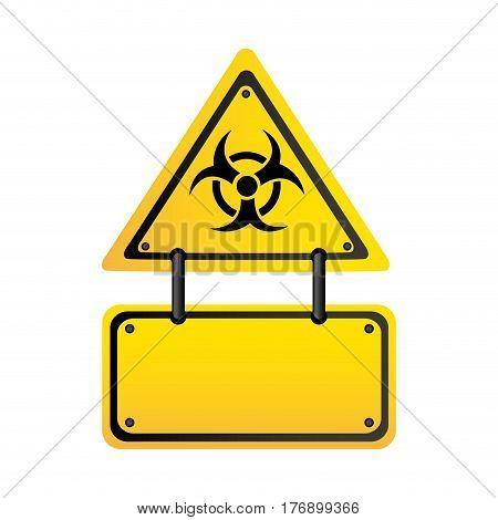 metal biohazard warning notice sign icon, vector illustration design