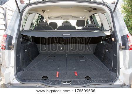 Rear Trunk Is A Big Modern Car Mpv Or Suv