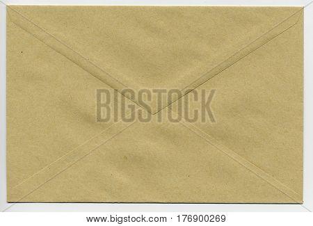 isolated envelope for sending a letter via mail