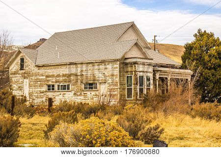 Abandoned Home In High Desert Which Fell Victim To Recession