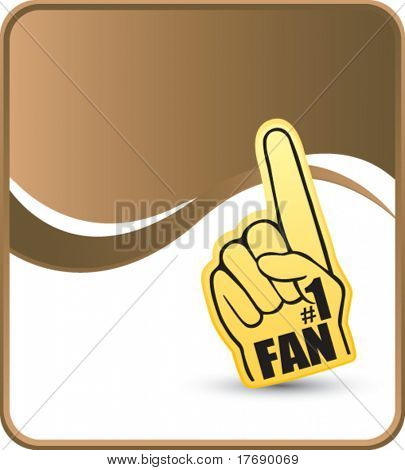 number one fan foam hand on wave background template