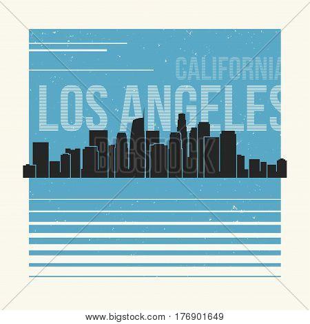 Los Angeles Graphic, T-shirt Design, Tee Print, Typography, Emblem.