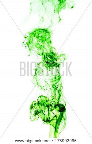 Abstract Green Smoke On White Background, Smoke Background,green Ink Background,green, Beautiful Col