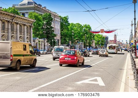 Nevsky Prospect In Saint Petersburg, Russia