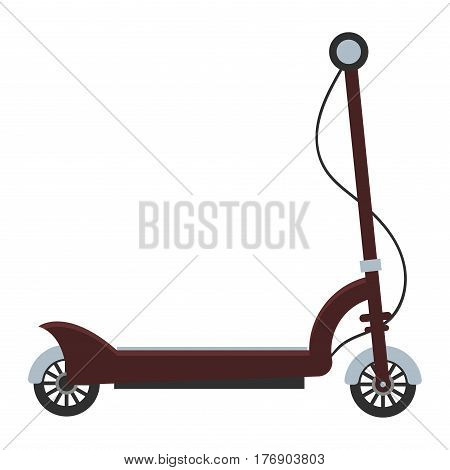 Electric scooter isolated roller balance bike. Self-balancing scooter eco alternative transport. Flat design biking and rolling wheel. Vector balance kick scooter segway. Push cycle gyroscooter.