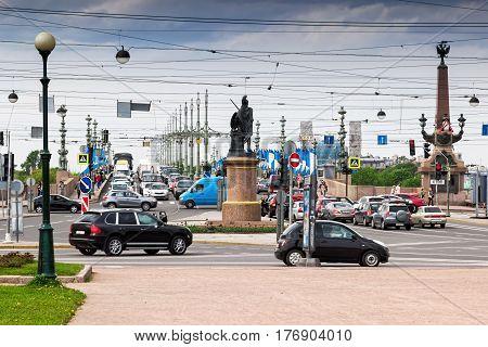 Traffic In Saint Petersburg