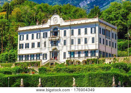 Villa Carlotta In Summer, Como Lake, Italy